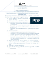 Requisitos Preparados Para Usuarios (Aaa Xi Pampas Apurimac) Segun r.j.007-2015-Ana.2 Oki