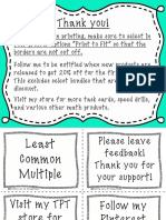 Gottaluvit - Lcm Task Cards