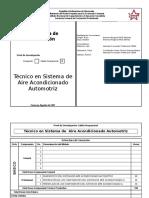 Estructura de Formación Tecnico en Sistema de Aire Acondicionado Automotriz