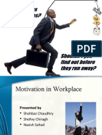 Role of motivation at workplace (slides)