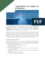 10 Factores Generadores de Riesgos en Dirección de Proyectos