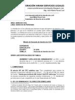 Modelo de Demanda Judicial de Interdicción Civil Autor José María Pacori Cari