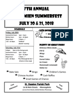 SummerFest 2018 Flyer