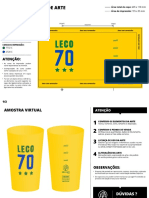 Copo customizado - Leco 70 - Amarelo Opaco 300ml