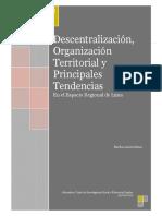 Descentralizacion y Organizacion Territorial