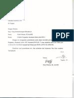 Surat Ganti Jadwal 101