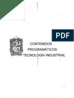 Contenidos Programaticos Tec. Industrial