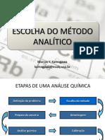 Escolha Do Método Analítico
