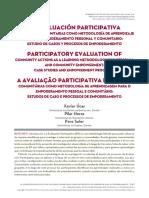 La Evaluación Participativa De Acciones Comunitarias