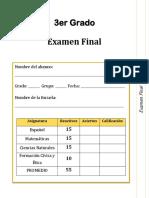 Examen Final 3er Grado