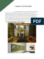 Cum Sa Obții Un Design Eco La Tine Acasa Ppt