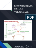 METABOLISMO VITAMINAS
