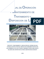 Manual de Op y Mant. Disposicion de Lodos