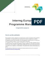 Interreg Europe - Fourth Call Programme Manual