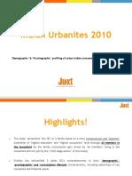 Snapshot - Juxt Indian Urbanites Study 2010