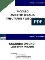 Modulo Aspectos Legales, Tributarios y Laborales Unidad II 2018
