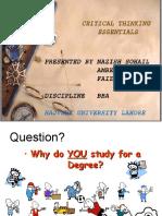 Critcal Thinking (slides)