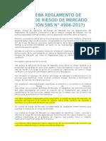 Sbs Aprueba Reglamento de Gestion de Riesgo de Mercado