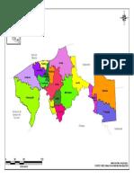 Mapa de Tabasco y Sus Municipios Con Nombres a Color