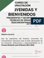 CAPACITACIÓN A FUNCIONARIOS DE LOS ÓRGANOS DES-CONCENTRADOS DEL IEPC CHIAPAS.