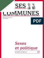 Sexes & politique - Revue Causes communes n°20