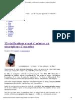 15 Vérifications Avant d'Acheter Un Smartphone d'Occasion _ EspaceRezo