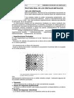 Capítulo Iiii Estructura Real de Los Cristales Metálicos