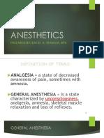 Anesthetics Handouts