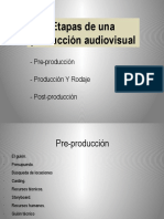 Etapas de Una Produccion Audiovisual