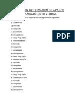 Resolución de La 1ra Prueba de Avance Rv