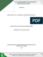 Foro Temático No. 2 Manejo de La Información en Excel