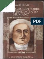 Hume Investigaciòn Sobre El Entendimiento Humano