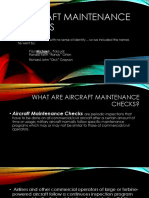 Aircraft Maintenance Checks