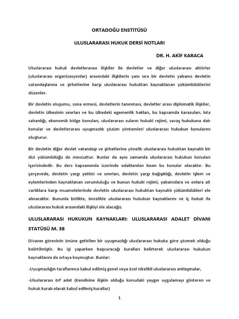 Uluslararası hukuk ilke ve normları