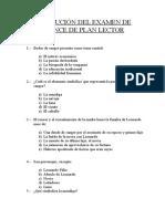 Resolución Del Examen de Avance de Plan Lector
