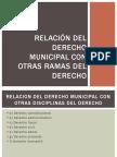 3. Clase Tres Relacion Del Derecho Municipal Con Otras Ramas Del Derecho