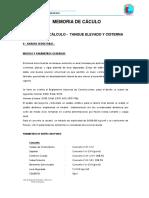 4.- Memoria de Cáculo Tanque Elevado y Cisterna