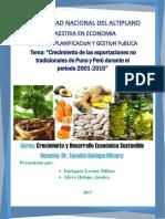 Trabajo Final Final Crecimiento de Las Export No Tradicionales 2001 2015