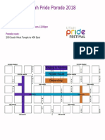 Utah Pride Parade 2018 Map