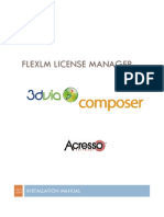 3DVIA Composer FlexLM Install Manual