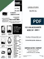 Simpson 269-2 User Manual-1966
