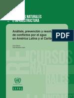 Análisis, Prevención y Resolución de Conflictos Por El Agua en América Latina y El Caribe