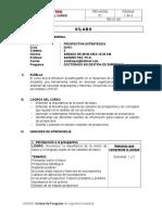 Silabo 2015-I Prospectiva Estrategica