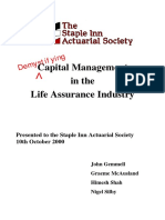 CA 1 - Demystifying Capital Management in Life Insurance Ccompany - Gemmell & McAusland