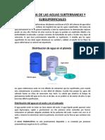 Hidrologia de Las Aguas Subterraneas y Subsuperficiales