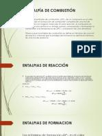 Entalpias de Formacion, Reaccion y Combustion