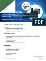 FreePBX Academy Belgrade Nov 2015