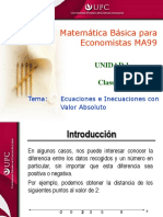 Clase 1.3 MBE Inecuaciones Polinómicas y Racionales en Una Variable.