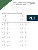 Guía de Adiciones y Sustracciones de Fracciones