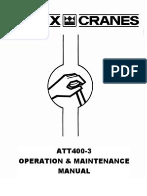 ATT400 Operation Maint 241384 | Crane (Machine) | Elevator